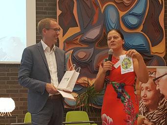 Kai Klose (Hessischer Minister für Soziales und Integration), Dr. Katja Bär (Hans und Ilse Breuer-Stiftung) | Foto: IZGS der EHD
