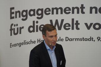 Dr. Holger Krimmer beim II. Hessischen Engagementkongress 2021 an der Ev. Hochschule Darmstadt. | © Foto: S. Schlitt, EKKW