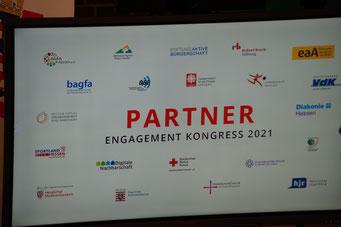 Danke an die Partner beim II. Hessischen Engagementkongress 2021 an der Ev. Hochschule Darmstadt. | © Foto: S. Schlitt, EKKW