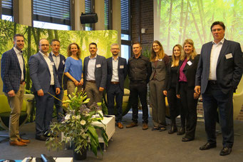 Freuen sich auf die Tagung: Keynotespeaker, Moderatorin und IZGS-Organisationsteam | Social Talk 2018 © Sabine Schlitt, EKKW