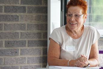 Ingrid Burow-Hilbig (Netzwerk Lernen durch Engagement) beim II. Hessischen Engagementkongress 2021 an der Ev. Hochschule Darmstadt. | © Foto: S. Schlitt, EKKW