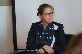 Prof. Dr. jur. Annette Rabe (Evangelische Hochschule Ludwigsburg) beim Social Talk 2018 © Sabine Schlitt, EKKW