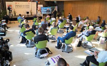 II. Hessischer Engagementkongress 2021 an der Ev. Hochschule Darmstadt. | © Foto: S. Schlitt, EKKW