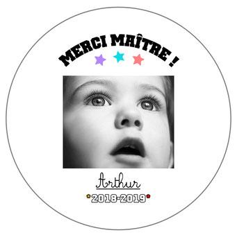 Merci Maître badge miroir magnet décapsuleur photo