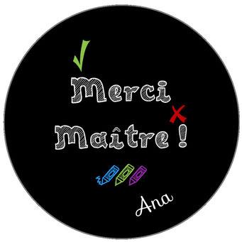 Merci Maître badge miroir magnet décapsuleur