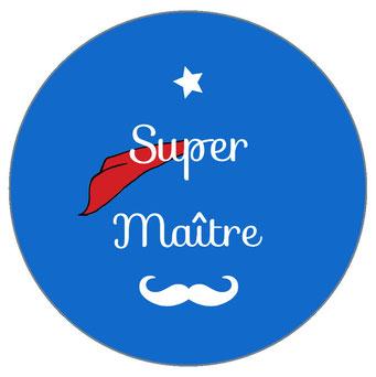Super Maître badge miroir magnet décapsuleur