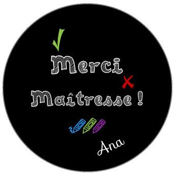 Merci Maîtresse badge miroir magnet décapsuleur