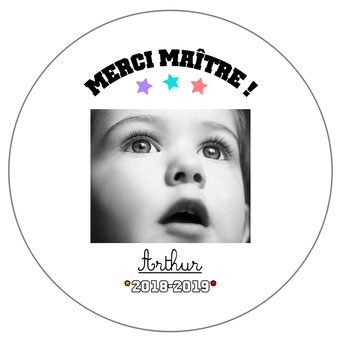 Merci Maître badge miroir magnet décapsuleur photo
