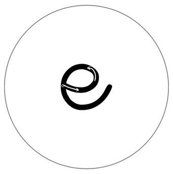Alphébet magnétique noir et blanc