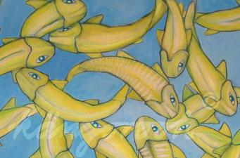 """urfa in blue"" / Detail 2 / 2015 / Carla Graupe"