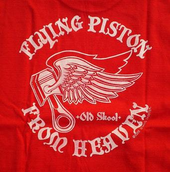 FLYING PISTON FROM HEAVEN ・Red フライングピストンフロムヘブン・赤 バックプリント
