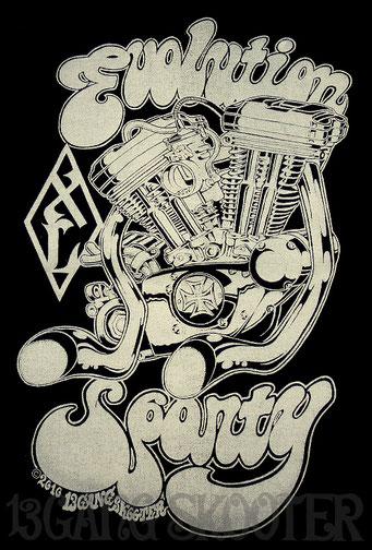 Sportster Engine Tee(Black)/スポーツスターエンジンTシャツ黒