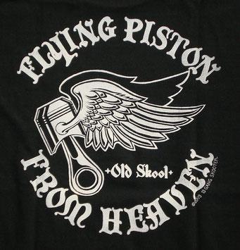 FLYING PISTON FROM HEAVEN ・Black フライングピストンフロムヘブン・黒 バックプリント