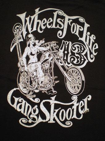Lady Biker・Black レディーバイカー・ブラック バックプリント