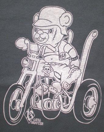 Scarface Bear・Denim スカーフェイス ベア・デニム フロントプリント