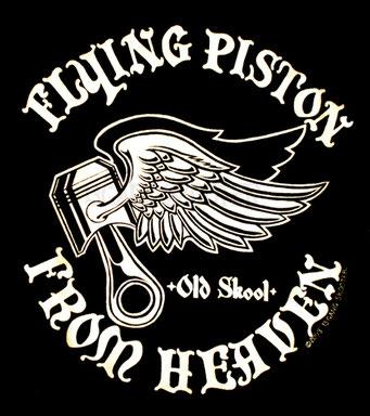 FLYING PISTON Tee(Black)/フライングピストンTシャツ黒
