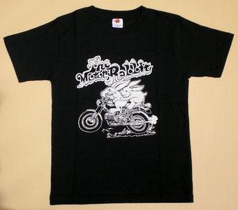 Motor Rabbit・Black モーターラビット・黒 フロントプリント