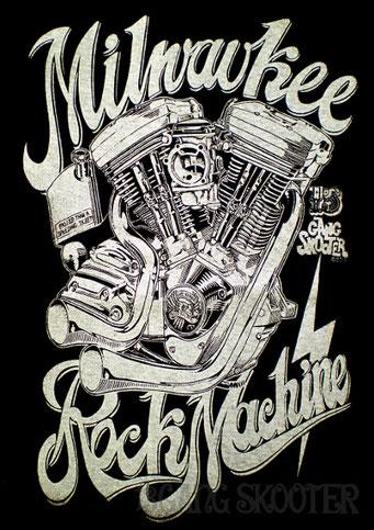 Blockhead Motor T-shirt・エボリューションエンジンTシャツ