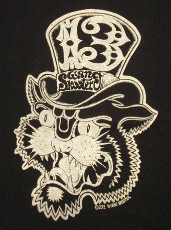 Thirteenth gang cat・Black 13ギャング キャット・ブラック フロントプリント