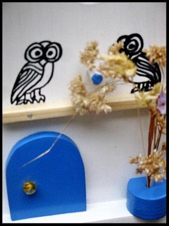 Houten Nestkastje voor Pindakaas pot , Nestkastje, thema, Grieks stijl Vogelhuisje bouwen, vogelhuisje pindakaas pot, huisje Grieks stijl_21