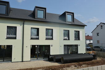 Vermietung in der Rohbauphase: Neubau-Reihenmittelhaus in Eningen