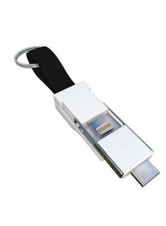 Smrter Colibri 3in1 Ladekabel für den Schlüsselbund schwarz