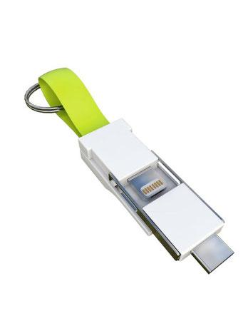Smrter 3in1 Colibri Ladekabel für den Schlüsselbund grün