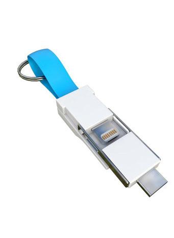 Smrter Colibri 3 in 1 Ladekabel für den Schlüsselbund hellblau
