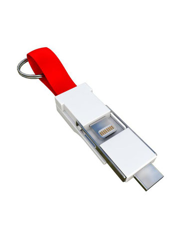 Smrter Colibri Ladekabel 3in1 für den Schlüsselbund rot
