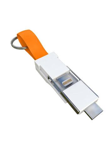 Smrter Colibri 3in1 Ladekabel für den Schlüsselbund orange