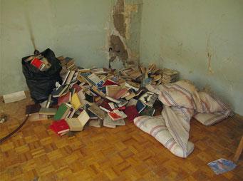 Остатки библиотеки времён пансионата.