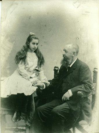 Князь Александр Александрович Прозоровский-Голицин с дочерью Марией