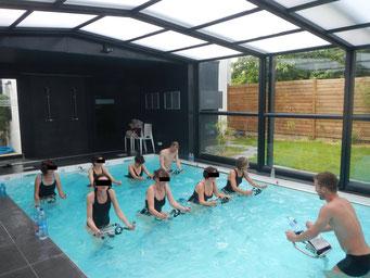 cours aquabiking piscine privé rennes