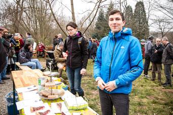 Klein aber fein: unser Kuchenstand im Botanischen Garten, zusammen mit dem Vegi-Stammtisch Saarbrücken