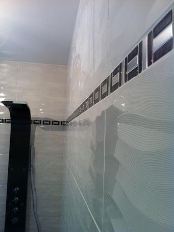 salle de bains après