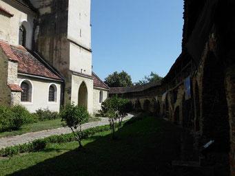 Eine der vielen Kirchenburgen.