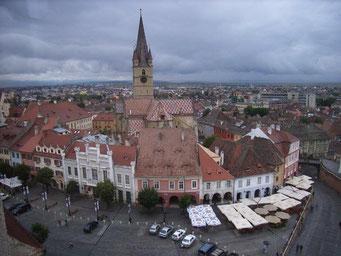 Hermannstadt: Oberstadt, wo Draculas Sohn ermordet wurde.