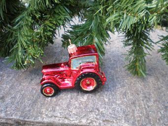 Weihnachtsschmuck aus Tschechien - Traktor