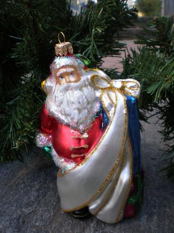 Weihnachtsschmuck aus Tschechien - St.Klaus mit Geschenke