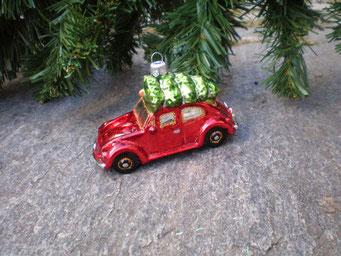 Weihnachtsschmuck aus Tschechien - Käfer mit Baum