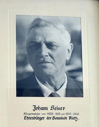Johann Seiser - 1928 - 1935 und 1953 - 1969