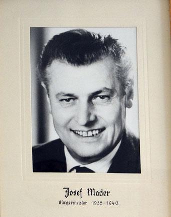 Josef Mader 1938 - 1940