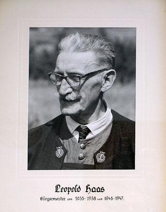 Leopold Haas 1935 - 1938 und 1945 - 1947