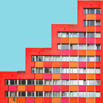 Stepwise - Berlin colorful facades modern architecture photography