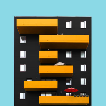 Barcode - Vienna colorful facades modern architecture photography