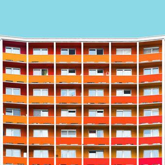 Lattice - Linz colorful facades modern architecture photography