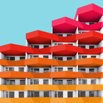 Angular facade colorful facades modern architecture photography