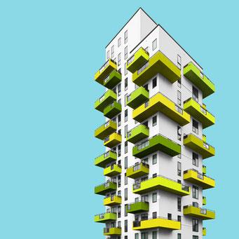 Cactus - Copenhagen colorful facades modern architecture photography