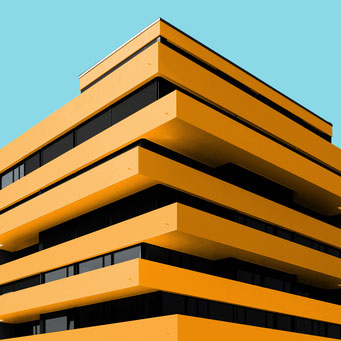 yellow corner - Berlin colorful facades modern architecture photography