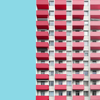 Straight rectangular - Berlin colorful facades modern architecture photography